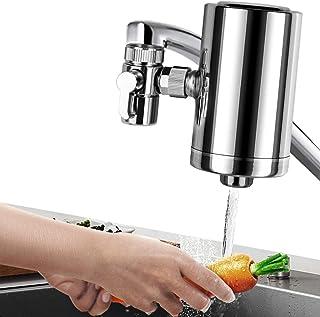 سیستم فیلتر آب Lelekey Tap ، فولاد ضد زنگ پریمیوم 304 ، شیر آب تصفیه آب 5 مرحله ای تصفیه آب شیرینی کوهی ، کاهش سرب و کلر ، BPA رایگان ، متناسب با استاندارد ترین شیرهای آب (1 فیلتر شامل)