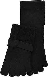 あったかシルクパイル5本指ソックス- S(22~24cm) 黒