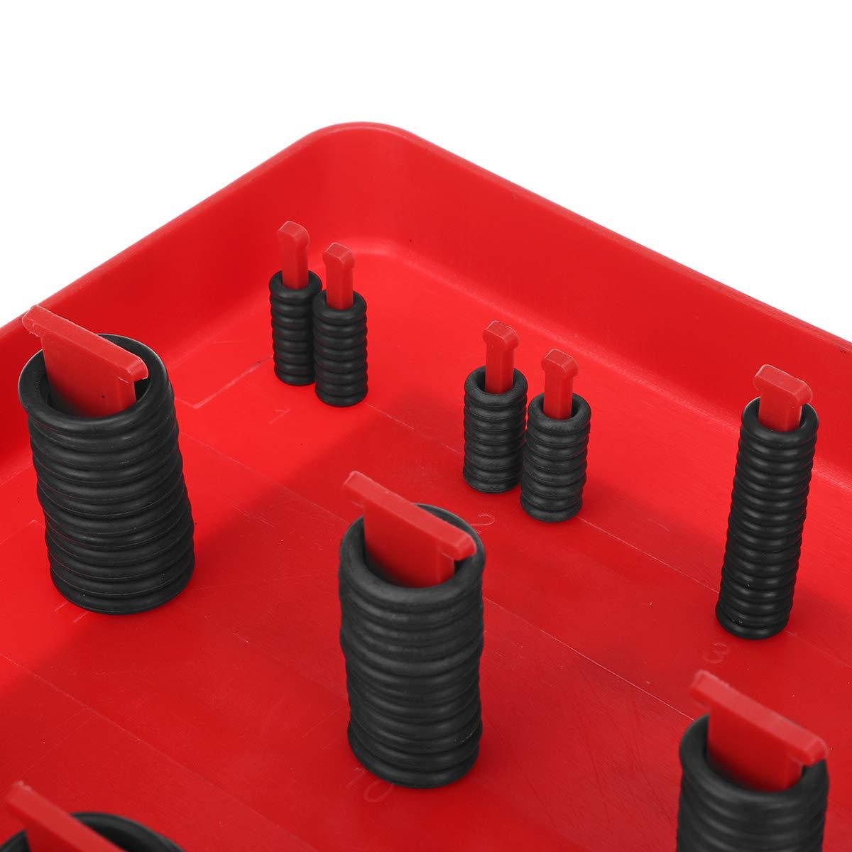 ZOYOSI 362Pcs Nitrile NBR O-Rings Washer Kit Seal Gasket Assortment Set Box Ring Blue