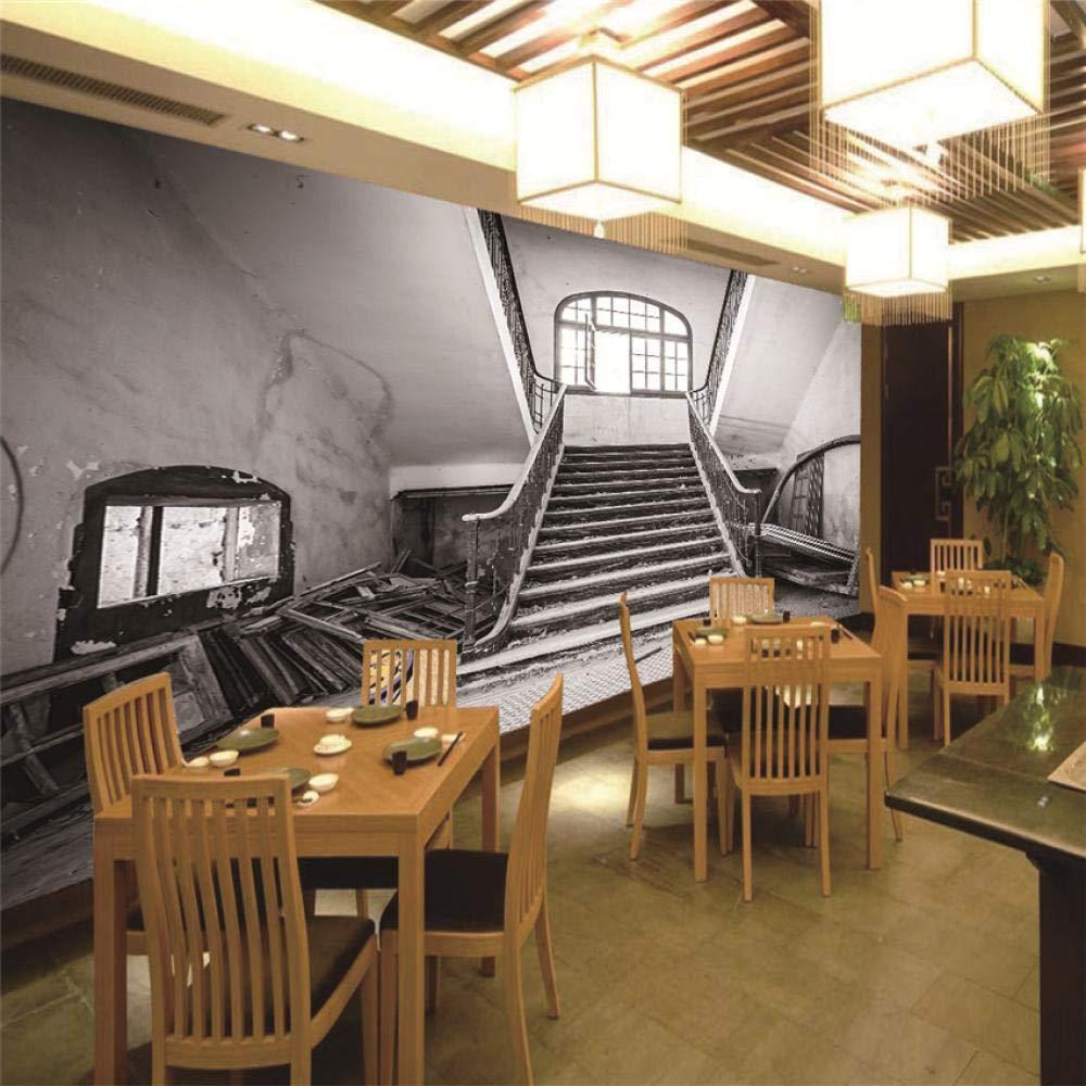 Fotomurales De Pared 3D Escalera Vintage Papel Tejido-No Tejido Fotomurales Foto Póster Moderna Para Habitación Salon Oficina Decoración Murales 200CMx140CM: Amazon.es: Bricolaje y herramientas
