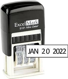 ExcelMark Self-Inking Date Stamp – S121 (Black Ink)