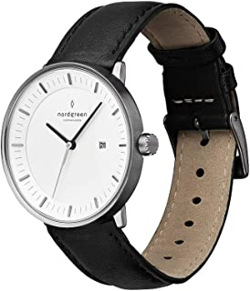 Philosopher Scandinavian Gun Metal Analog Watch with Leather or Mesh Interchangeable Straps
