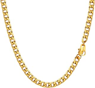 سلاسل رجال ميامي كوبان كارب سلاسل ستانلس ستيل / أسود لينك 18K الذهب مطلي مجوهرات قلادة للرجال 4 مم 6 مم 9 مم عرض 14 بوصة -...
