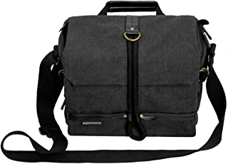 Promate DSLR Camera Bag, SLR DSLR Camera Bag with Water Resistance Cover and Stoage Strap for Canon, Nikon, Sony, Olympus, Samsung – Xplore-L
