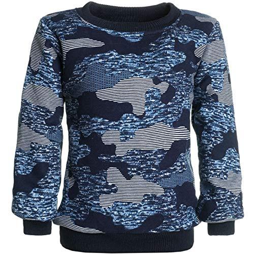 BEZLIT Jungen Camouflage Pullover Sweatshirt Pulli 21521 Blau Größe 140
