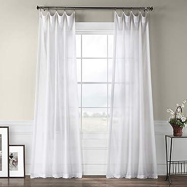 White Exclusive Fabrics /& Furnishings Twin X-Large HPD Half Price Drapes CCJ-WHTFS-TTXL 100/% Cotton Fitted Bed Sheet w//Aloe Vera Treatment