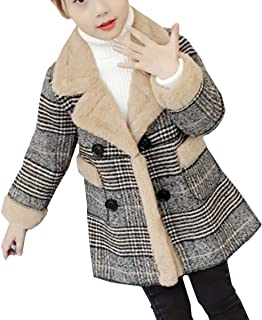YOJAP 女の子 コート子ども ジャケット 防寒服 子供服 軽量 秋 冬 キッズ服 暖かい ロング丈 アウター