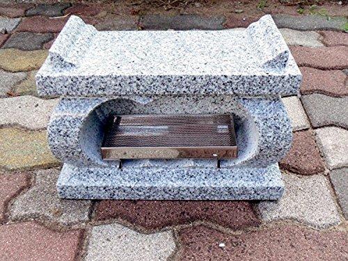【お墓・香炉】白御影石経机香炉・香皿付