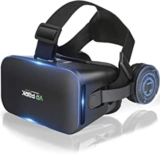 """VR Headset,Best Virtual Reality 3D Game Glasses System, Compatible with iPhone & Android Phone(4.7""""-6.53"""") ,New Goggles Co..."""