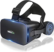 VR headset, New 3D virtual reality glasses, Compatible with iPhone and Android phones, Virtual and reality glasses,VR goggles