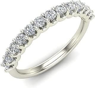 Wedding Rings Diamond Ring 18K Gold Anniversary Gifts for her 0.50 carat tw (G, VS)