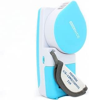 WoneNice Portable Small Fan & Mini-air Conditioner, Runs On Batteries Or USB-Blue