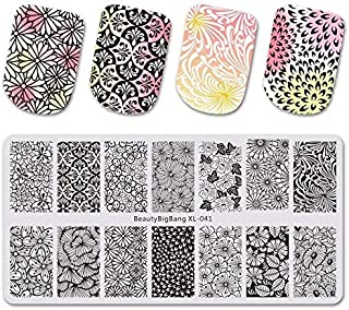 612Cm Stamping Plate For Nails Stainless Steel Peacock Feather Nail Stamping Plates Template Nail Art Stencils 41
