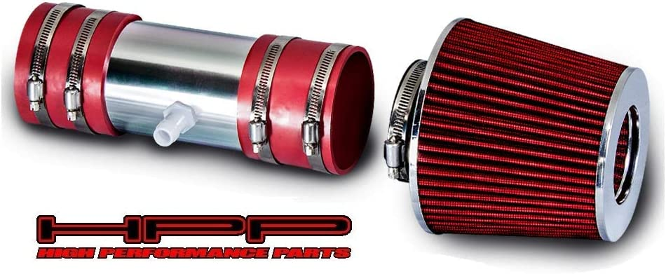 High Performance Parts Short Ram オープニング 送料無料(一部地域を除く) 大放出セール Air Intake Kit Red Com Filter