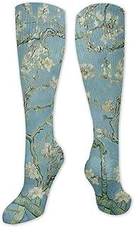 N//A Notte stellata The Rhone Vincent Van Gogh Atletico Calzini pazzi Donna Uomo Classici Calzini alti Calza a girocollo