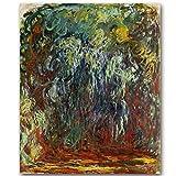 WSWWYClaude Monet Impressionist Ölgemälde Landschaft Ölgemälde Wanddekoration Art Deco Druck auf Leinwand Rahmenlos (Druck) A 40x50cm No Frame