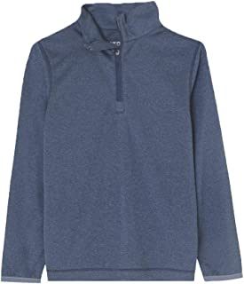 Boy's Athletic Shirts Long Sleeve 1/4 Zip Pullover Sweatshirts Fit Running Workout for Youth ( Dry fit Moisture-Wicking )