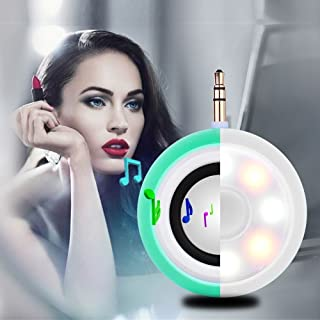 2in1 Selfie Fill Light with Wireless Portable Speaker, BooTaa Rechargeable Mini Beauty Led Ring Fill Light with Speaker for iPhone 6/6 plus/6s/6s Plus, iPad, Mac Book, Samsung S7/S6, Tablets (Green)