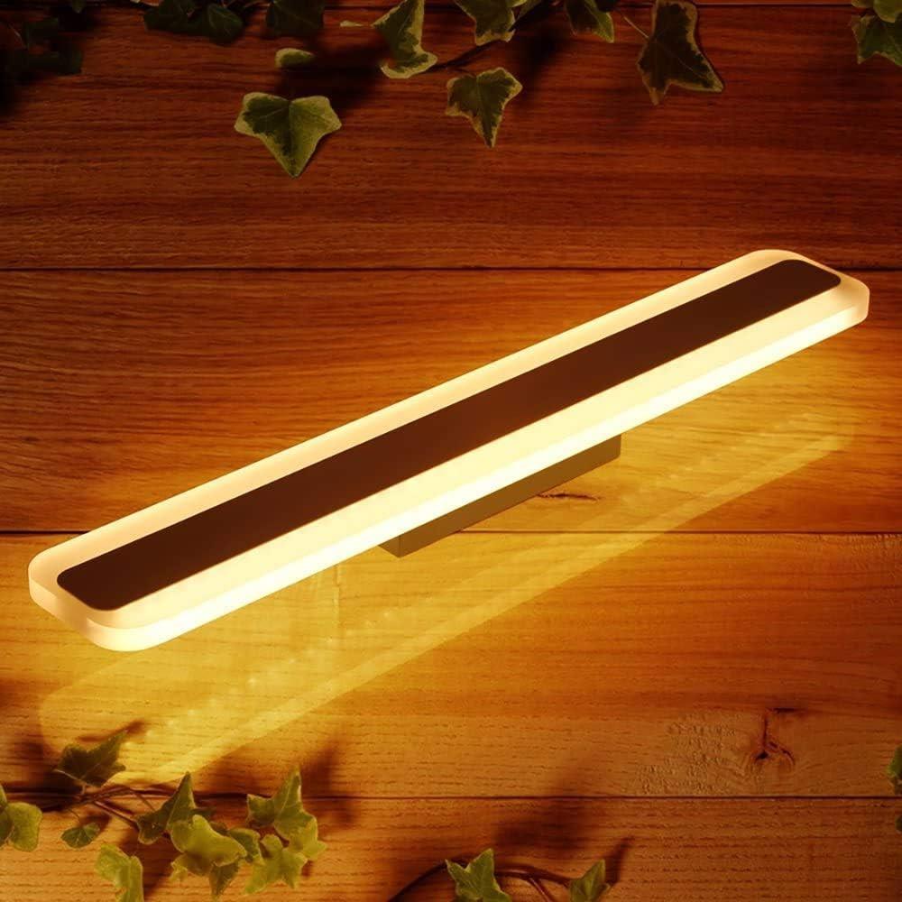 Led Spiegelleuchte Badlampe Moderner Wasserdichte Led-Lampe Spiegelspiegel Nebel Badezimmer Spiegelschrank Badezimmer-Wand-Lampe Make Up Lampe Lampen (Farbe, Warm 70Cm-24W Licht),Weiß-60Cm-20W Licht Warmes Licht-70cm-24w