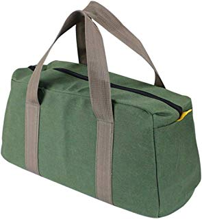Mechanics Multi-function Bag Portable Toolkit Canvas Cargo Outdoor Trip Hand Tools Storage for Car Truck SUV (Green, A,16 inch)