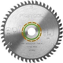 Festool cirkelzaagblad 160 x 2,2 x 20 W48, fijne tandzaagblad met W tandvorm, spanhoek 5°, geschikt voor TS 55/TSC 55/ATF ...