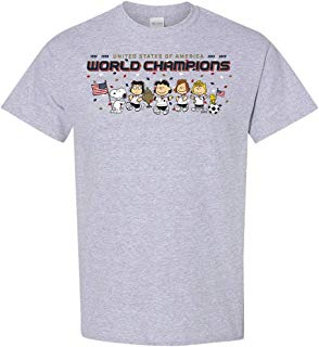 Peanuts Snoopy Soccer Women's World Champs T-Shirt, Licensed