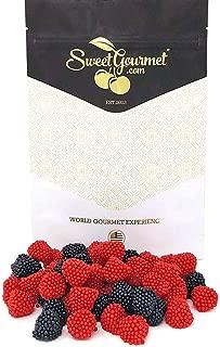 Haribo Black and Red Raspberry Gummi | Agar-Agar | Berry Gummy Candy Bulk | 1 pound