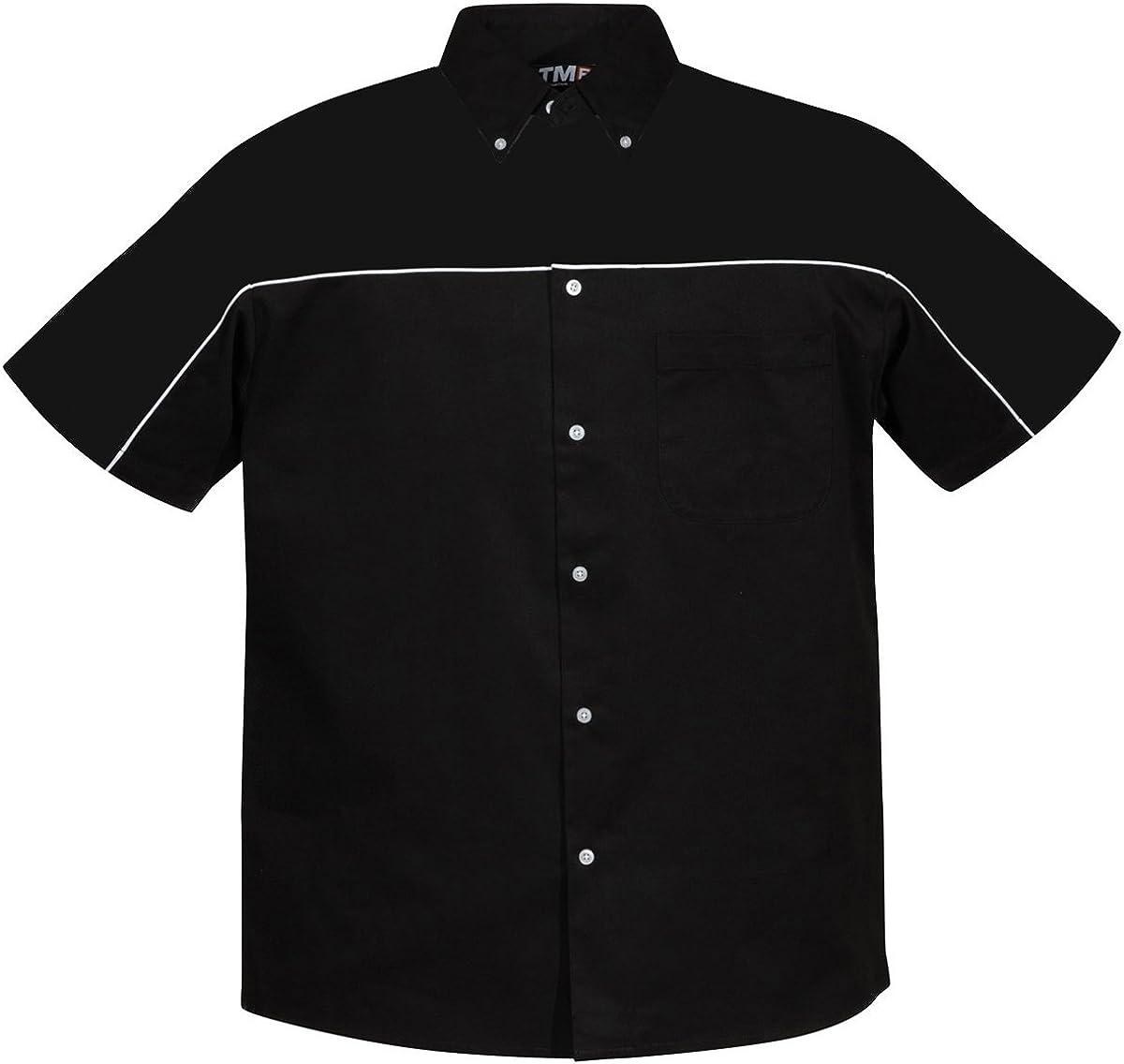 Tri-Mountain TRM Men's Poly/Cotton Downshifter Short Sleeve Twill Shirt (8 Colors, XS-6XLT)