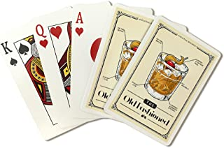 Prohibition - Cocktail Recipe - Old Fashioned (Playing Card Deck - 52 Card Poker Size with Jokers)