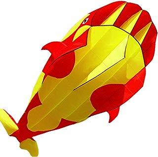 HENGDA KITE-3D Kite Huge Frameless Soft Parafoil Giant Red Dolphin Breeze Kite