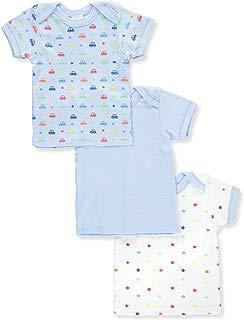 BIG OSHI Baby 3 Pack Lap Shoulder Crewneck Undershirt T-Shirts - PLK-803
