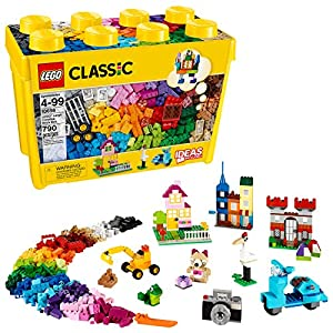 LEGO Classic Large Creative Brick Box 10698 Build Your Own Creative Toys, Kids Building Kit (790 Pieces) - 614j4rpFsxL - LEGO Classic Large Creative Brick Box 10698 Build Your Own Creative Toys, Kids Building Kit (790 Pieces)