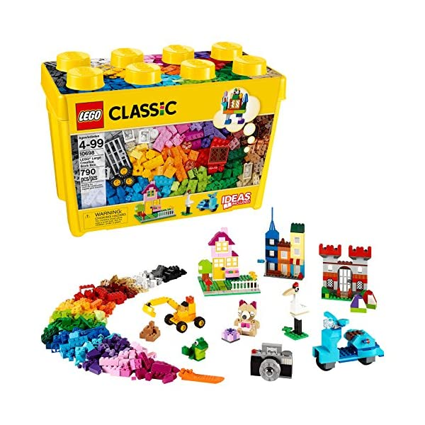 LEGO Classic Large Creative Brick Box 10698 Build Your Own Creative Toys, Kids Building...