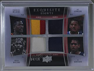 Dominique Wilkins; Joe Johnson; Moses Malone; Al Horford; Spud Webb; Mike Bibby; Marvin Williams; Josh Smith #4/10 (Basketball Card) 2009-10 Exquisite Collection - Exquisite Eights #DWJJMMAHSWMBMWJS