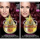 Garnier Olia Ammonia-Free Brilliant Color Oil-Rich Permanent Hair Color, 4.60 Dark Intense Auburn (Pack of 2) Red Hair Dye