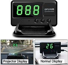 VJOYCAR C60 Hud Car GPS Speedometer, Digital Head Up Display Windshiled Projector MPH KM/H Over Speeding Alarm, 100% Universal for All Vehicle Car Bus Truck Bike Scooter ATV UTV