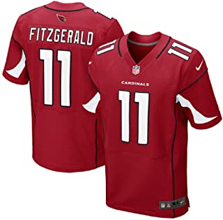 Nike Men's NFL Arizona Cardinals Larry Fitzgerald #11 Elite Jersey 468880-673 (Size: 52 XXL) Red/White/Black