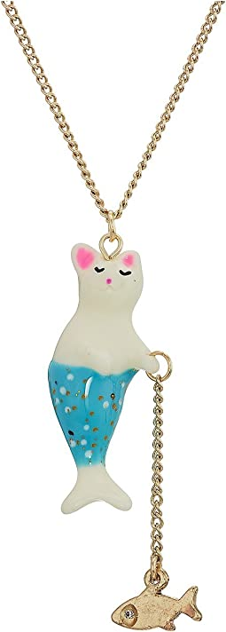 Betsey Johnson Purmaid Pendant Necklace