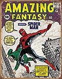 Desperate Enterprises Marvel Comics Spider Man Comic Cover Tin Sign, 12.5' W x 16' H