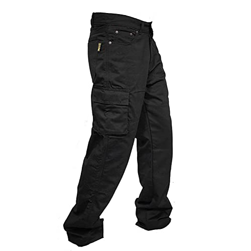 newfacelook Hommes Motorcycle Moto Pantalon Motards Jeans Renforc/ée Aramide Protection Color Noir Size
