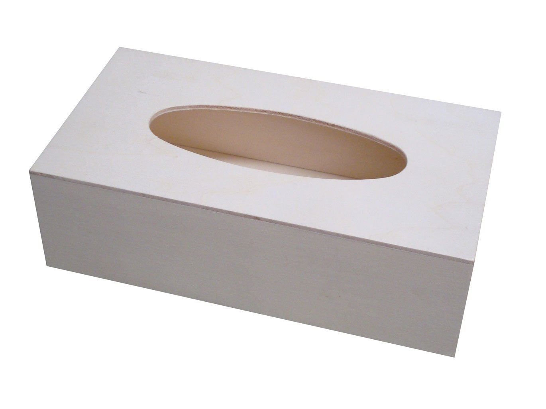 greca Caja para pañuelos de Madera. Madera en Crudo, para Decorar ...