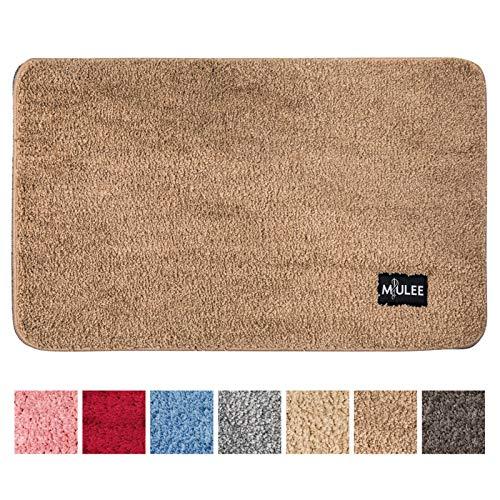 MIULEE Dekorative Teppiche Saugfähige weicher Rechteck mit hoher Hydroskopizität Modern Teppich für Wohnzimmer Schlafzimmer 50 X 80cm Kaffee
