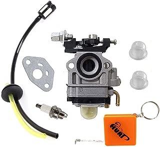 HURI Carburetor with Fuel Line Kit Spark Plug for Troy Bilt Back Pack Blower 753-06442 753-08045 Craftsman TB2BP TB2BV EC