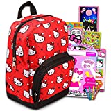 """Hello Kitty Preschool Backpack for Kids, Toddlers ~ 5 Pc School Supplies Bundle with Hello Kitty 10"""" Mini Backpack for Girls, Stickers, Coloring Book, and More"""