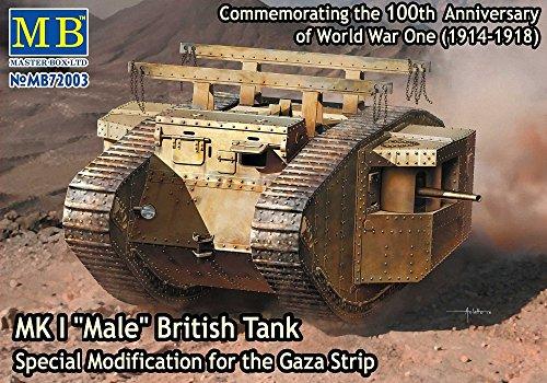 Master Box Model Kit - MKI Male British Gaza Strip Tank - 1:72 Scale - 72003