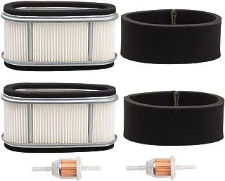 Kizut 2 Pack 11013-2141 11013-2110 Air Filter for Kawasaki FC420V FC400V Engine John Deere M97211 M74285 240 LX172 LX176 GT242 170 175 245 Lawn Mower