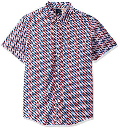Tommy Hilfiger Herren ADP Louis GEO Print SS - CF Button Down Hemd, Multi 3, X-Groß