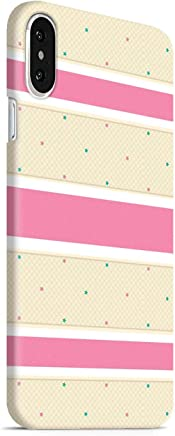 MADANYU iPhone Xs Max Cover - Stars and Strips Pattern Designer Printed Slim Back Case Cover for iPhone Xs Max (for Girls)