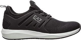 Emporio Armani Herren Mesh Cage Joggingschuhe Sneaker Schwarz
