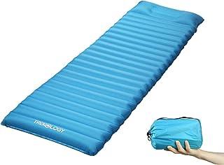 Trekology Ultralight Sleeping Pad, Inflating Camping Mattress w/Air Pump Dry Sack Bag - Compact Lightweight Camp Mat, Infl...